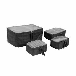 Tasmanian Tiger Modular Pouch Set VL schwarz 4tlg. Rucksack Zusatz Innentaschen