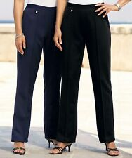 """Damart Womens 2 Pack Knitted Trousers Size 14 Leg 25"""" NEW £39.99 Navy/Black"""