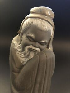 Tall Lladro Porcelain Chinese Monk Figure