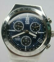Swatch Irony Swiss Made Mens Watch Blue Dial chronograph stainless steel