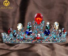 Multi-Color Crystal Round Tiara Crown Girl Headband Brides Pageant Party Costume