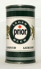 Prior Lager Beer 12 oz. Flat Top Beer Can-Norristown, Pa.