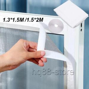 Large Window Screen Mesh Net Bug Mosquito Fly Insect Moth Door Netting White UK