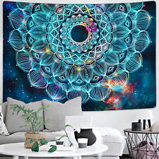 Colorful Dazzling Mandala Print Tapestry Hippie Wall Hanging Psychedlic Tapestry