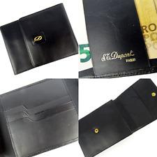 S.T. Dupont Paris, Leder Brieftasche, Kreditkarten, Ausweis,Black Leather Wallet