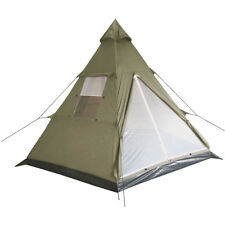 Indian Style Tent Tipi Camping Summer Festivals Hiking Outdoor 3 Persons Olive