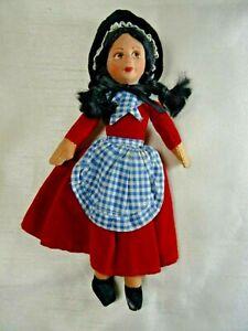"Vintage Nora Wellings Cloth Doll Welsh Girl 9"""