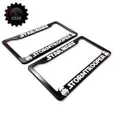 2 Star Wars Stormtrooper License Plate Frames, 3-D Raised Letter, Car Accessory