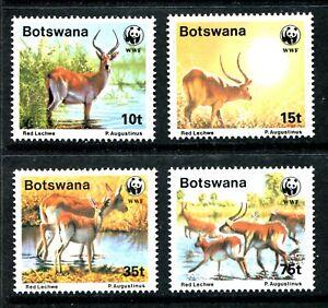 Botswana 432-435, MNH, WWF World Wildlife Fond Kobus leche, SCV-$11.85. x39629