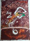 """Pierre Alechinsky, Lithograph, """"Flying Obj."""",Hand Signed, Numb, Arches, COA, '78"""