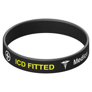Silicone Medical Wristband ICD FITTED
