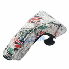 QHALEN 1pcs UK Flag Skull Golf Head Covers Hybrid Cover For TaylorMade PING