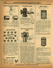 1926 PAPER AD Seiss Bicyle Oil Lamp Light Weight Head Light Acetylene Gas
