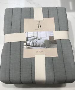 ED Ellen DeGeneres Marmont Quilt King Green Soft Cozy 100% Cotton New