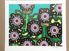 "Kip Frace ""Sunflowers-Green""  Serigraph Hand Signed & Numbered Great Print !!!!"
