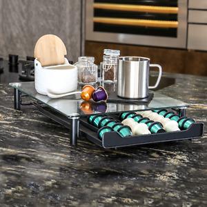 60 Coffee Capsule Pod Holder Glass Stand Dolce Gusto Tassimo Nespresso Unit Tray