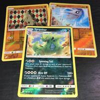 - 3 Evolution CELESTIAL STORM Pokemon TYRANITAR Holo+PUPITAR +LARVITAR RH RH