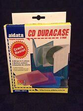 NIB Aidata 5 CD/DVD Disk Box Duracase in 5 Colors CD 1-5 Protect Multi Media