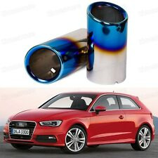Titanium Blue Tailpipe Exhaust Muffler Tail Pipe Tip for Audi A3 2011-2014 12 13
