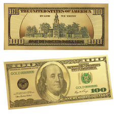Gold Foil US Banknote 100 Dollar Fake Currency Bank Note Paper Money old version
