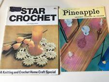 2 Vintage 1960s Crochet Books - Retro Pineapple Crochet & Star Designs Special