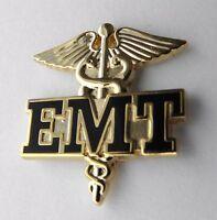EMT EMERGENCY MEDICAL TECHNICIAN CADUCEUS PARAMEDIC GOLD COLOR LAPEL PIN 1 INCH