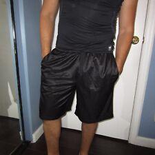 Starter Black Shiny Shorts Men's Medium Med M. Gym Soccer Sports Gear Elastic