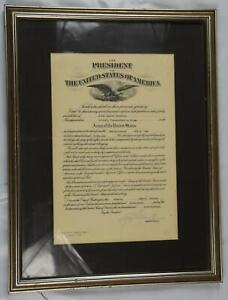 WWII May 22 1946 USA PRESIDENT MILITARY SIGNED adjutant General Roy Gleason JR
