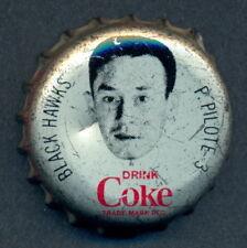1964 65 COCA-COLA COKE HOCKEY BOTTLE CAP/CORK Pierre Pilote CHICAGO BLACK HAWKS
