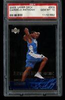 2003-04 Upper Deck Carmelo Anthony Rookie PSA 10 Gem Mint RC #303