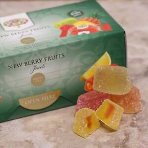 Meltis New Berry Fruits Jewels Assorted Fruit Jellies With Soft Centre 300g Box