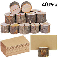 40 IN 1 Wooden Table Name Place Card Holder Rustic Wedding Party Table Decor USA