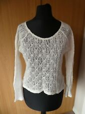 New Look Generation Cream Lace Crochet Long Sleeve Jumper Top Age 10 - 11 years