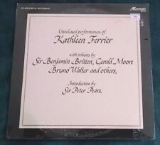 Unreleased Performances of Kathleen Ferrier LP (Arabesque) Still Sealed
