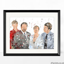 More details for the office print watercolor picture wall art framed canvas gift idea david brent