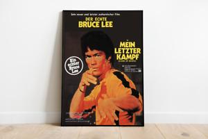 Poster MEIN LETZTER KAMPF - VHS Ufa Retro Motiv - Bruce Lee - DinA1