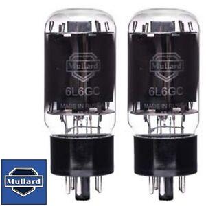Brand New In Box Mullard Reissue 6L6GC 6L6 Current Matched Pair (2) Vacuum Tubes
