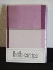 Biberna Feinbiber Biber Bettwäsche 2 tlg RV 135x200 Streifen lila grau