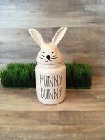 NEW Rae Dunn Pink HUNNY BUNNY Small Canister w/Bunny Ears Lid