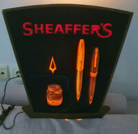 SHEAFFER'S original Dealer Shop LIGHT SIGN LOGO advertishment 70s RARE
