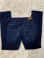 Lucky Brand Womens Sweet N Straight Jeans Stretch Denim Blue Sz 2 /26 Dark Wash
