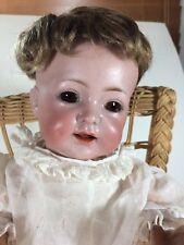 """Antique German K⭐️R S&H 122 Bisque Head Baby Doll 13"""""""