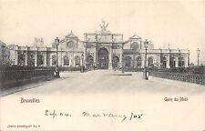POSTCARD    BELGIUM   BRUXELLES   Gare  du   Midi    1904