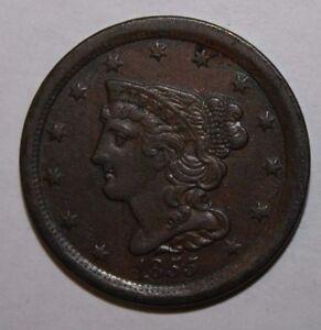 1855 US Half Cent V62