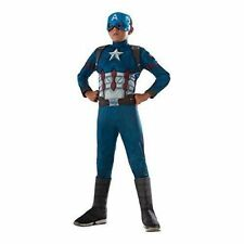 Boys Captain America Civil War Deluxe Muscle Kids Childs Fancy Dress Costume 8 - 10 Years 620591