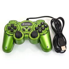 Wired USB Vibration Shock Gamepad Controller Joystick Joypad for PC Laptop Green
