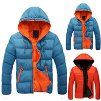 Men's Padded Bubble Hooded Coat Puffer Quilted Jacket Winter Warm Zip Up Outwear