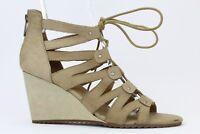 DV by Dolce Vita Women's Tan Leather Rhoda Gladiator Lace Wedge Sandal Size 9.5