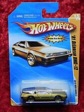 2010 Hot Wheels New Models '81 DeLorean DMC-12 Gold Stainless Steel Coupe