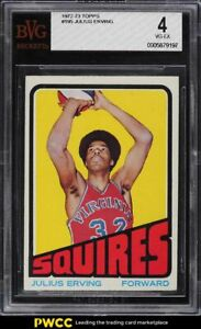 1972 Topps Basketball Julius Erving ROOKIE RC #195 BVG 4 VGEX